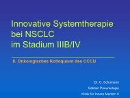 Innovative Systemtherapie bei NSCLC im Stadium IIIB/IV