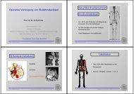 Operative Versorgung von Skelettmetastasen - Universitätsklinikum ...