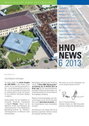 FINALVERSION HNO news 1-6-2013.indd - Universitätsklinikum Ulm