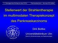 Pankreaskarzinom - die neuen S3 Leitlinien - Universitätsklinikum Ulm