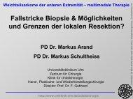 Biopsie Weichteiltumore - Universitätsklinikum Ulm