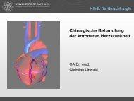 Chirurgische Behandlung der koronaren Herzkrankheit