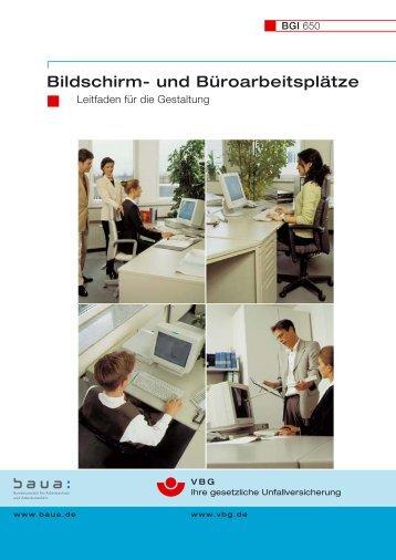 Bildschirm- und Büroarbeitsplätze