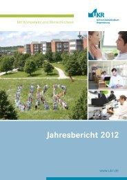 Jahresbericht 2012 - Universitätsklinikum Regensburg