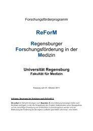 ReForM-C - Universitätsklinikum Regensburg