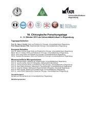 Programm (pdf) - Universitätsklinikum Regensburg