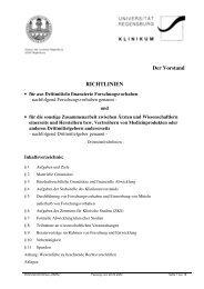 Drittmittel-Richtlinie (PDF) - Universitätsklinikum Regensburg