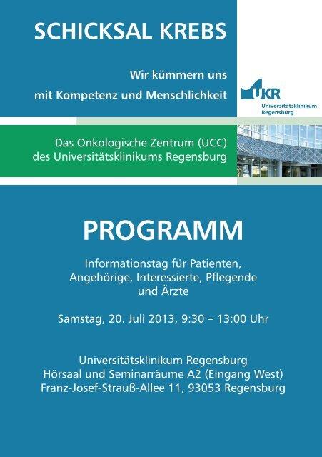 PROGRAMM - Universitätsklinikum Regensburg