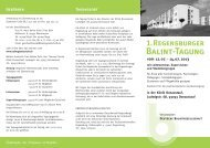 1.Regensburger Balint-Tagung
