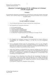 Allgemeine Vertragsbedingungen für die Ausführung von ...