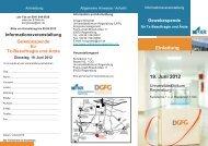 Einladung 19. Juni 2012 - Universitätsklinikum Regensburg