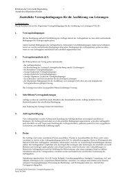 Zusätzliche Vertragsbedingungen für die Ausführung von Leistungen