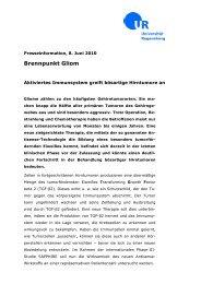 Brennpunkt Gliom - Universitätsklinikum Regensburg