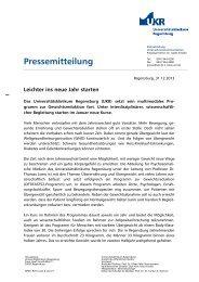 Leichter ins neue Jahr starten - Universitätsklinikum Regensburg