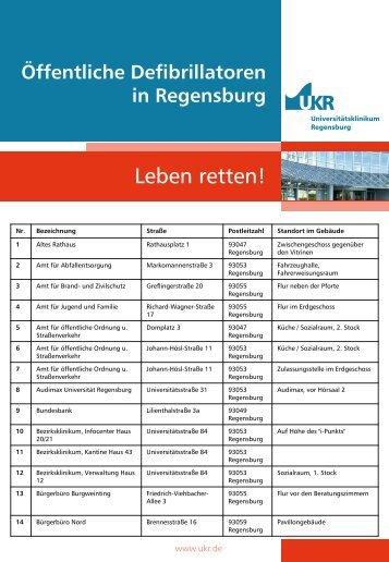 Defibrillatoren in Regensburg