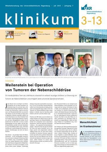 Juli 2013 - Universitätsklinikum Regensburg