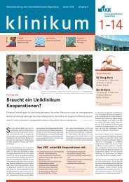 Ausgabe 01 | Januar 2014 - Universitätsklinikum Regensburg