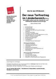 Info für den KR-Bereich Der neue Tarifvertrag im Länderbereich(TV-L)