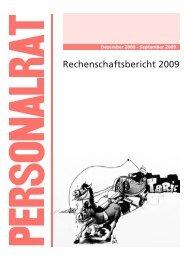 Rechenschaftsbericht 2009 des Personalrates am Uniklinikum Essen