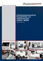 Holzbearbeitungsmaschinen Vierseitenhobel - Holzkraft Maschinen ...