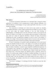 Semiotique et stratégie - Université de Limoges