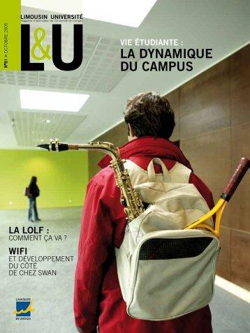 La DynaMiQUE DU CaMPUS - Université de Limoges