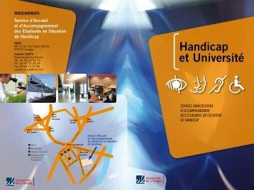Handicap et Université - Université de Limoges