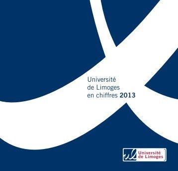 Plaquette des chiffres de l'université 2013 - Université de Limoges