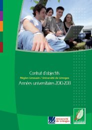 Contrat d'objectifs Années universitaires 2010-2013 - Université de ...