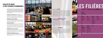 Plaquette de la Faculté de droit et des - Université de Limoges