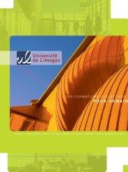 POUR DEMAIN - Université de Limoges