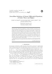 Liouvillian Solutions of Linear Differential Equations of Order Three ...
