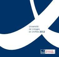 Université de Limoges en chiffres 2012