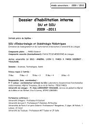 DIU Endocrinologie et Diabetologie Pediatriques - Université de ...