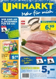 50%BILLIgER - Unimarkt
