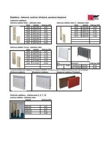 Oceľové a liatinové radiátory - UNIMAT