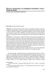 Ricerca e formazione: tra ambiguità semantiche e nuove forme di ...