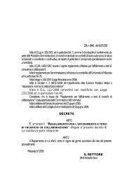 Affidamento di incarichi di collaborazione esterna - Università degli ...