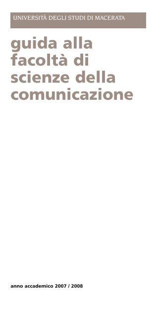 Scienze della comunicazione universit degli studi di for Design della comunicazione universita