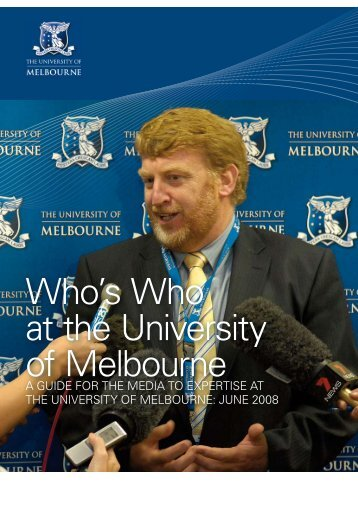 Who's who at the University of Melbourne