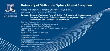 University of Melbourne Sydney Alumni Reception