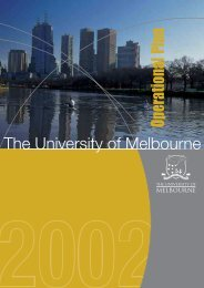 Operational plan 2002, University of Melbourne