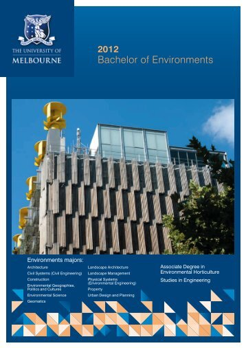 Bachelor of Environments - University of Melbourne