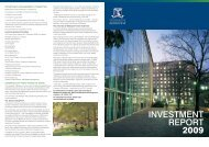 2009 Investment report - University of Melbourne