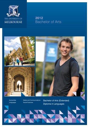 Bachelor of Arts - University of Melbourne