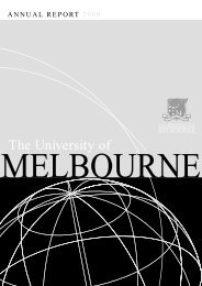 University of Melbourne annual report 2000