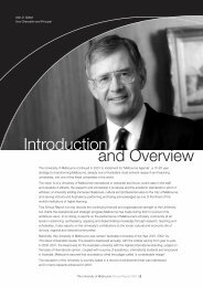 University of Melbourne annual report 2001