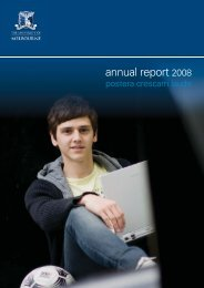 annual report 2008 - University of Melbourne