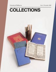 COLLECTIONS - University of Melbourne