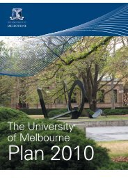 The University of Melbourne Plan 2010